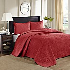 Madison Park Quebec Reversible Queen Bedspread Set in Red