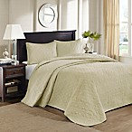 Madison Park Quebec Reversible King Bedspread Set in Yellow