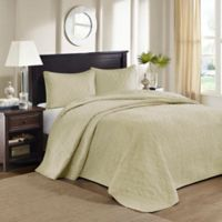 Madison Park Quebec Queen Bedspread Set in Yellow