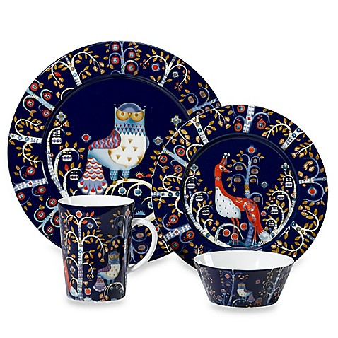 iittala taika dinnerware collection in blue bed bath