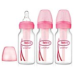 Dr. Brown's® Options 3-Pack 8 oz. Baby Bottles in Pink