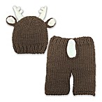 So 'dorable 2-Piece Reindeer Crochet Set in Brown