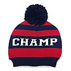 So 'dorable Champ Sweater Knit Hat in Red and Blue