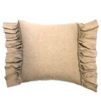 Amity Home Karina Ruffled Linen European Pillow Sham in Natural