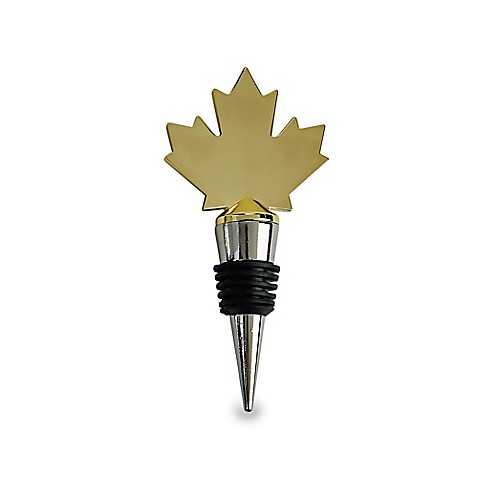 Wild Eye Designs Canada Map Wine Stopper in Gold