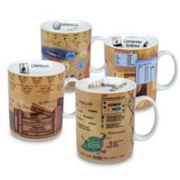 Konitz Science and Literature Knowledge Mugs (Set of 4)