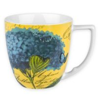 Konitz Floral Impressions Accent Mugs in Blue Hydrangea (Set of 4)