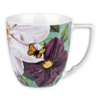 Konitz Floral Impressions Accent Mugs in White Clematis (Set of 4)