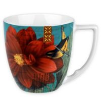 Konitz Floral Impressions Accent Mugs in Red Dahlia (Set of 4)