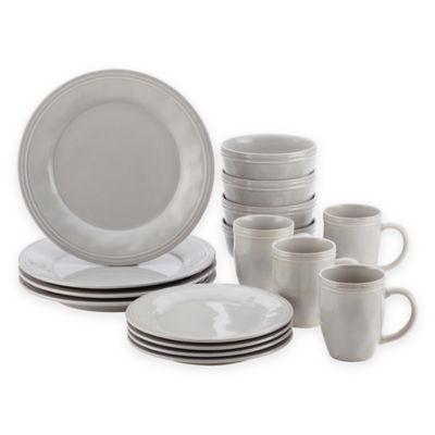 Rachael Ray™ Cucina 16-Piece Dinnerware Set Grey  sc 1 st  Bed Bath u0026 Beyond & Buy Rachael Ray Dinnerware from Bed Bath u0026 Beyond