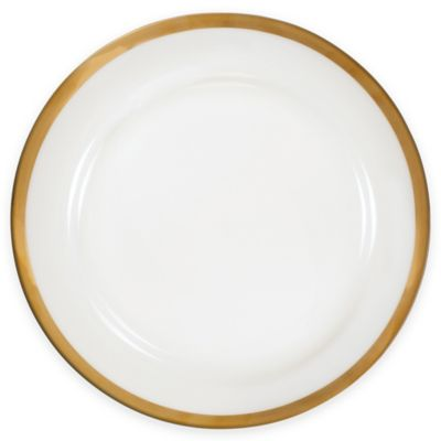 Nevaeh White® by Fitz and Floyd® Grand Rim Dinner Plate in Gold  sc 1 st  Bed Bath u0026 Beyond & Buy Gold Rimmed Plates from Bed Bath u0026 Beyond