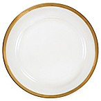 Nevaeh White® by Fitz and Floyd® Grand Rim Wide Band Gold Dinner Plate
