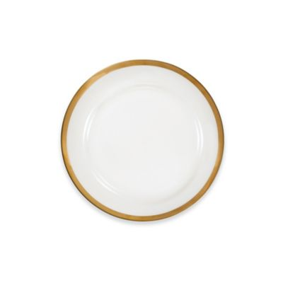 Nevaeh White® by Fitz and Floyd® Grand Rim Salad Plate in Gold  sc 1 st  Bed Bath \u0026 Beyond & Buy Gold Rimmed Plates from Bed Bath \u0026 Beyond