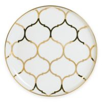 Nevaeh White® by Fitz and Floyd® Lattice Salad Plate in Gold