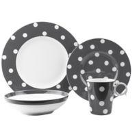 Freshness Dots 8-Piece Dinnerware Set in Grey