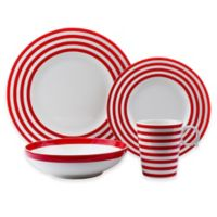 Freshness Lines 8-Piece Dinnerware Set in Red