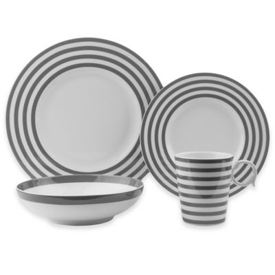 Freshness Lines 8-Piece Dinnerware Set in Grey  sc 1 st  Bed Bath u0026 Beyond & Buy Dinnerware Sets for 8 from Bed Bath u0026 Beyond
