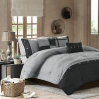 Madison Park Boone 7-Piece Comforter Set in Grey