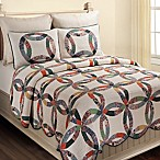 Heritage Wedding Ring Reversible Full/Queen Quilt Set