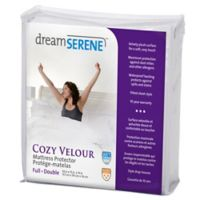 dreamSERENE® Cozy Velour King Mattress Protector