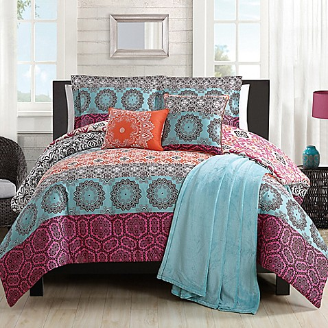 Boho Chic Comforter Set In Orange Bed Bath Amp Beyond