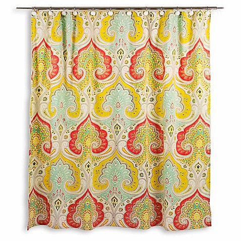 Ideal Echo Design™ Jaipur Fabric Shower Curtain - Bed Bath & Beyond RS45