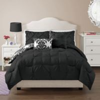 VCNY Olivia Twin Comforter Set in Black
