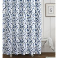 Laura Ashley® Charlotte Shower Curtain in Blue