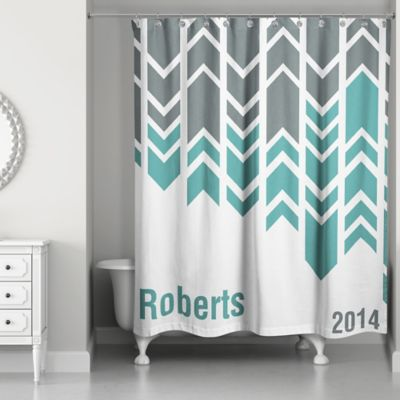 Turquoise And Coral Shower Curtain. Arrow Line Shower Curtain in Green Grey White Buy and Curtains from Bed Bath  Beyond