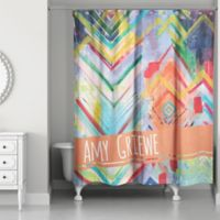 Eclectic Chevron Multicolored Shower Curtain