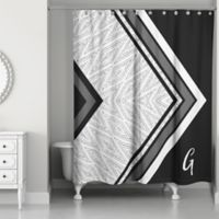 Boho Tribal Custom Shower Curtain in Black/Grey/White