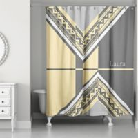 Buy Yellow And Grey Shower Curtains Bed Bath Beyond