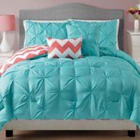 VCNY Sophia Jana Twin Comforter Set in Turquoise