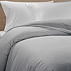 The Seasons Collection® Reversible Flannel King Duvet Cover in Grey Stripe