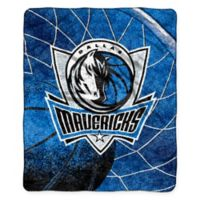 NBA Dallas Mavericks Reflect Sherpa Throw Blanket by The Northwest
