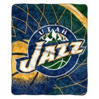 NBA Utah Jazz Reflect Sherpa Throw Blanket by The Northwest