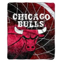 NBA Chicago Bulls Reflect Sherpa Throw Blanket by The Northwest