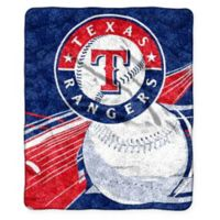 MLB Texas Rangers Sherpa Throw Blanket by The Northwest