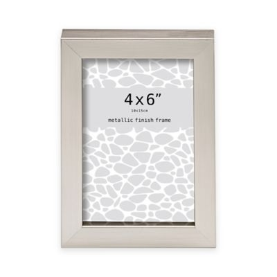 prinz soho 4 inch x 6 inch metallic finish picture frame in champagne