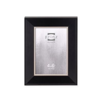 prinz 4x6 baldwin wood picture frame in black