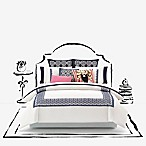 kate spade new york Folk Art King Duvet Cover in Navy