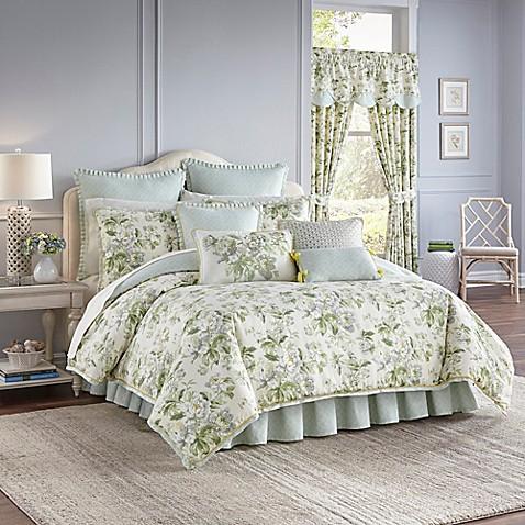 Waverly 174 Fleuretta Reversible Comforter Set In Spring