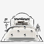 kate spade new york Lacey Daisy Full/Queen Duvet Cover in White/Charcoal