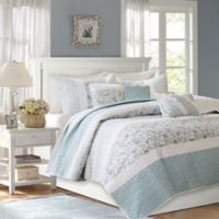 Madison Park Dawn Full/Queen Coverlet Set in Blue