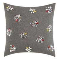 kate spade new york Clustered Gem Square Throw Pillow in Charcoal
