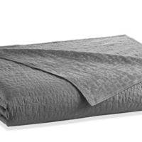 kate spade new york Alligator Full/Queen Coverlet in Charcoal