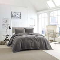 Kenneth Cole Velvet Full/Queen Coverlet in Grey