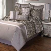 Heston 9-Piece Queen Comforter Set in Platinum