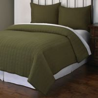 Powell Full/Queen Quilt Set in Green