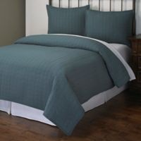 Powell Twin Quilt Set in Teal